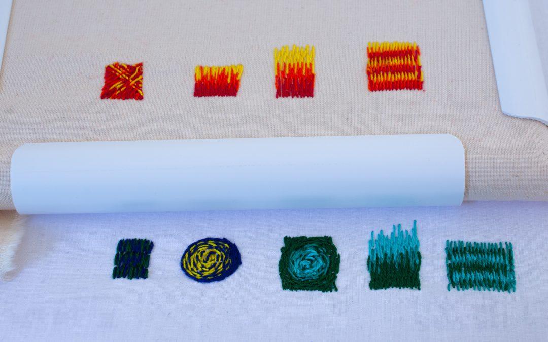 פלטה של חוטים – צבע ברקמה –   בהנחיית נטע עמיר